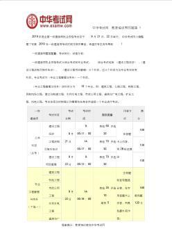 2019年安徽一级建造师考试时间