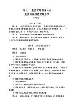 造价咨询公司造价咨询服务管理办法 (2)
