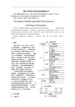 重庆市跨座式单轨连续轨道梁设计