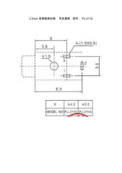 2.5mm音频插座封装