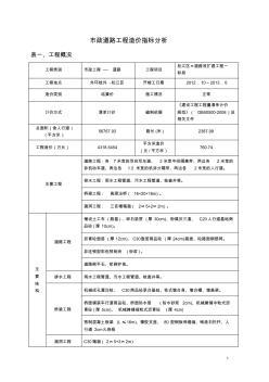 市政道路造价指标 (4)