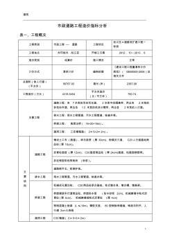 市政道路造价指标 (3)