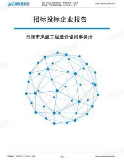 日照市岚建工程造价咨询事务所-招投标数据分析报告