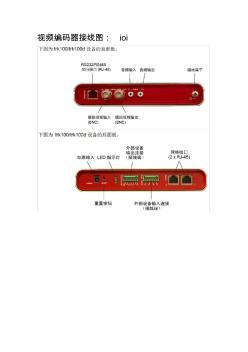 视频编码器接线图