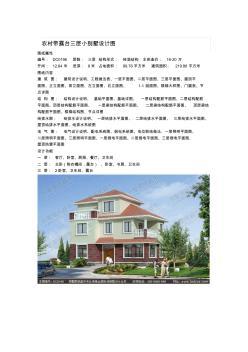 农村带露台三层小别墅设计图